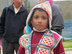 A boy in the Andes, Peru
