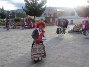 A child in a small Andes town