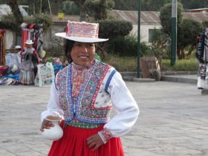 A girl at a small Andes town -2