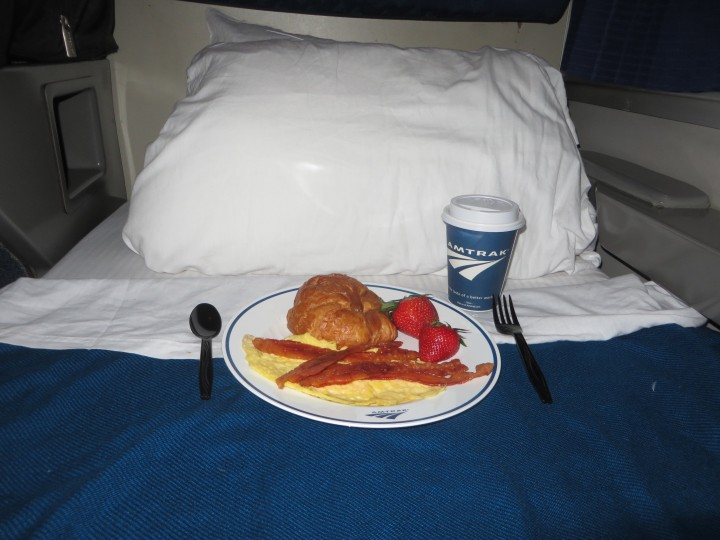 Amtrak Breakfast in Bed