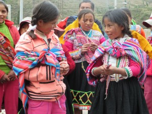 Girls in the Andes, Peru