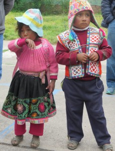 School children in the Andes
